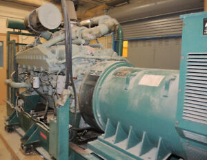 880kw. 600 volt diesel generator