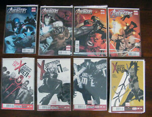 Batman, Hulk, Uncanny Avengers, Spiderman, Uncanny X-Men Comics