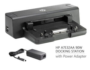 New HP 90W Docking station W/Power Adapter A7E32AA#ABA HP PPP012