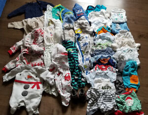 Boys 0 to 3 month clothing lot