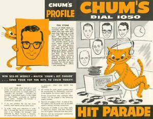 Buying Old CHUM HIT PARADE Charts