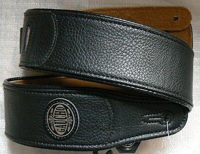 Schwarze Lange Gaucho (Original Gaucho Echt Leder Gurt WESTERN-GITARRE max. Länge 130 cm / Breite 6 cm)