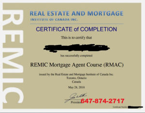 REMIC Mortgage Agent Course Study Guide (1 Week Cram)