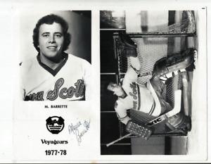 1977-78 NOVA SCOTIA VOYAGERS MAURICE BARRETTE AUTOGRAPH