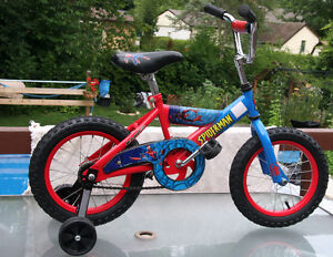 REDUCED PRICE: Spiderman bike and helmet - reconditioned London Ontario image 1