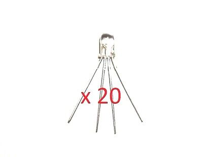 20 X 4-pin 5 Mm Ultra Light Rgb Leds - New