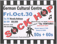 SOCK HOP DANCE in Saskatoon Oct 30th - live band 1950s 60s music