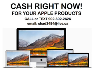 CASH RIGHT NOW!!$$ For your MacBook Pro, Air and iMac