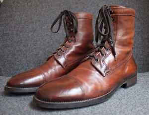 To Boot New York - Leather Lincoln Boots Cognac Brown - Size 9.5