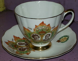 1959 Colclough Bone China Tea Cup Saucer Signed Queen ANTIQUE Kingston Kingston Area image 1