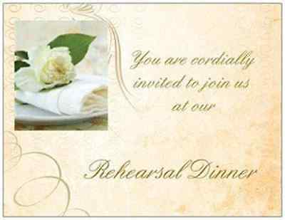 20  WEDDING REHEARSAL DINNER Invitations Simple Elegant  Rose Cards Post CARDS](Post Wedding Invitations)
