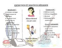 Recherche contrat d'entretien Ménager résidentiel ou commercial