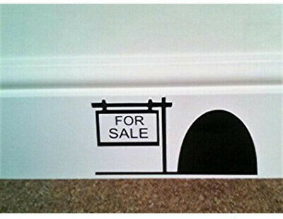 16cm x 8cm Mouse Hole '' FOR SALE '' Skirting Board Wall Art Sticker Vinyl Decal