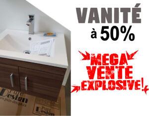 ON VIDE L'ENTREPÔT >> VANITÉ DE SALLE DE BAIN À PRIX FOU >> 50%