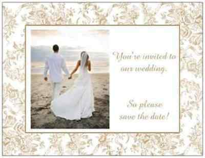 Save The Date Cards Wedding (20 Wedding SAVE the DATE Postcards POST CARDS  SAVE)