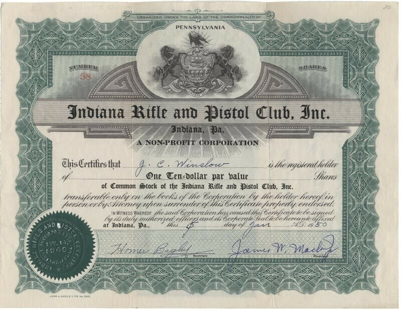 Indiana Rifle and Pistol Club, Inc. Stock