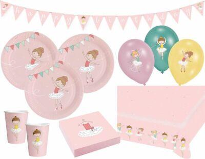Stunde Ballerina Party Deko Set für 8 Kinder (Party Stunden)
