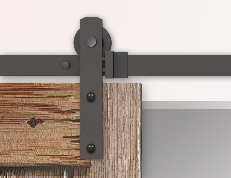 5 6 10ft black rustic sliding barn door hardware straight
