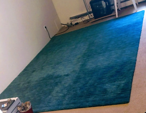 """8' x 11' wool rug from India """"Luna"""""""