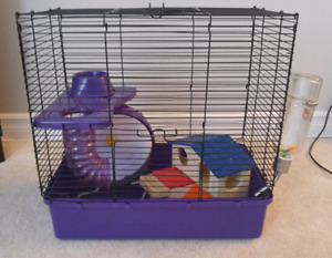 Complete hamster home and accessories