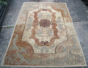 "Great Area Rug made in Turkey, ""Stone"" design in good clean cond"