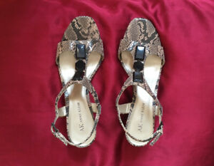 Anne Klein Leather Snakeskin Shoes Brand New Size 7.5 M