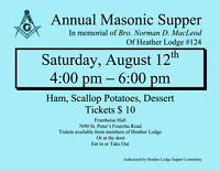 Annual Masonic Supper