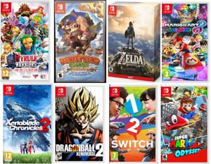 Jeux Nintendo Switch Neufs et Usagés 35$et+ Zelda, Mario, DK...