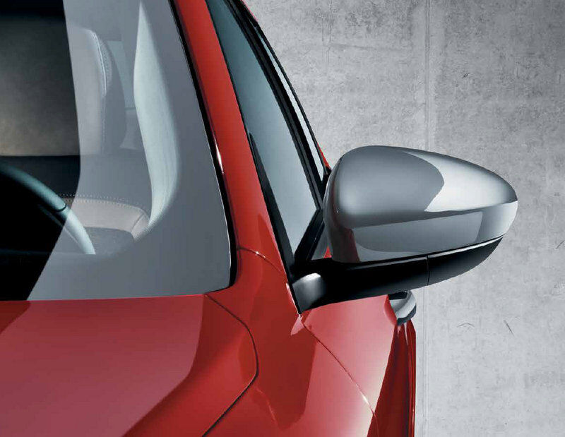 Fiat 500X Pair Wing Door Mirror Covers Backing Caps New /& Genuine Red 50903553