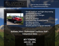 #9TOWING.QUICK RELIABLE HONEST SERVICE 24/7 403-383-6904