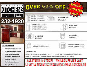 CABINET CLEARANCE SALE!  OVER 65% OFF!