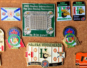 Halifax Mooseheads Quebec Peewee tournament pins lot
