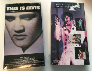 ELVIS PRESLEY THIS IS ELVIS and THE LOST PERFORMANCES SEALED VHS