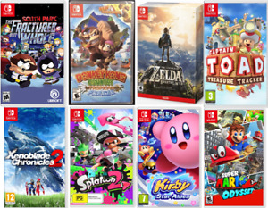 ⭐Jeux Nintendo Switch Zelda, Octopath,Kirby, Mario Party JoyCon⭐