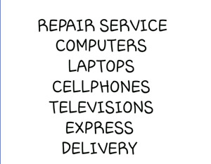 repair your your device and television and battery replacement