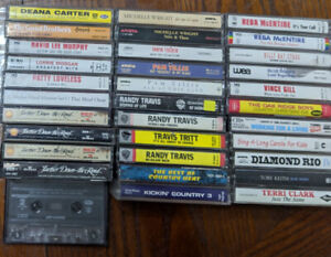 Variety of 33 cassette tapes and two new easy liners