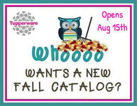 TUPPERWARE New Fall Catalogue now open