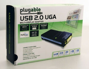 Plugable Multi-Display Adapter UGA-185 USB 2.0 UGA New