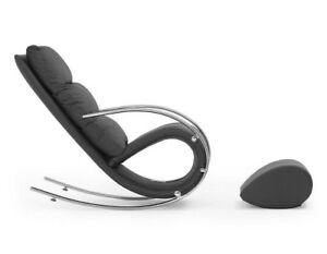 """Structube Black """"Becky"""" Rocking chair"""