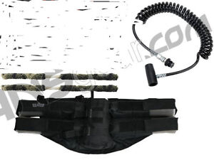 Gen-X 4+1 Paintball Harness Black Remote Coil