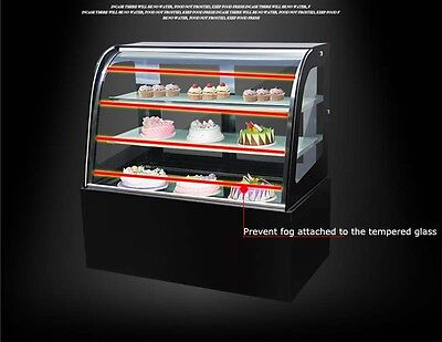 New Commercial Countertop Cake Showcase Glass Refrigerated Display Case For Pies
