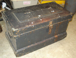 Antique Wooden Tool Chest
