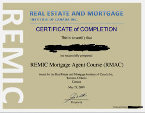 Remic Mortgage Agent Exam Study Notes (Exam Passed Sept 14/18)