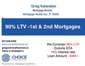 90 LTV Private Mortgage 48 Hours Approvals