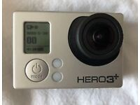 GoPro Hero 3+ black edition wifi with remote used once.