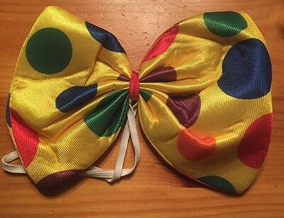 Giant Clown Bow Tie Costume Accessory - Clown Bow
