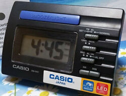 Casio DQ541-1R Black LED Light Digital Travel Alarm Clock with Snooze NEW