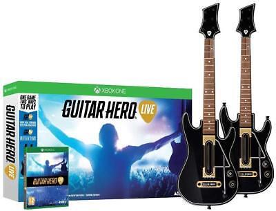 NEW Guitar Celebrity Live Bundle Microsoft Xbox One Game & 2 Guitars