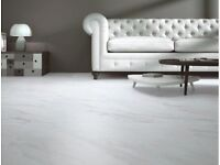White marble affect non slip porcelain floor tiles Free Delivery* 60% off
