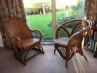 Stylish wicker chairs x2 - perfect condition